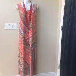 Chico's ethnic print lined maxi dress 2 medium